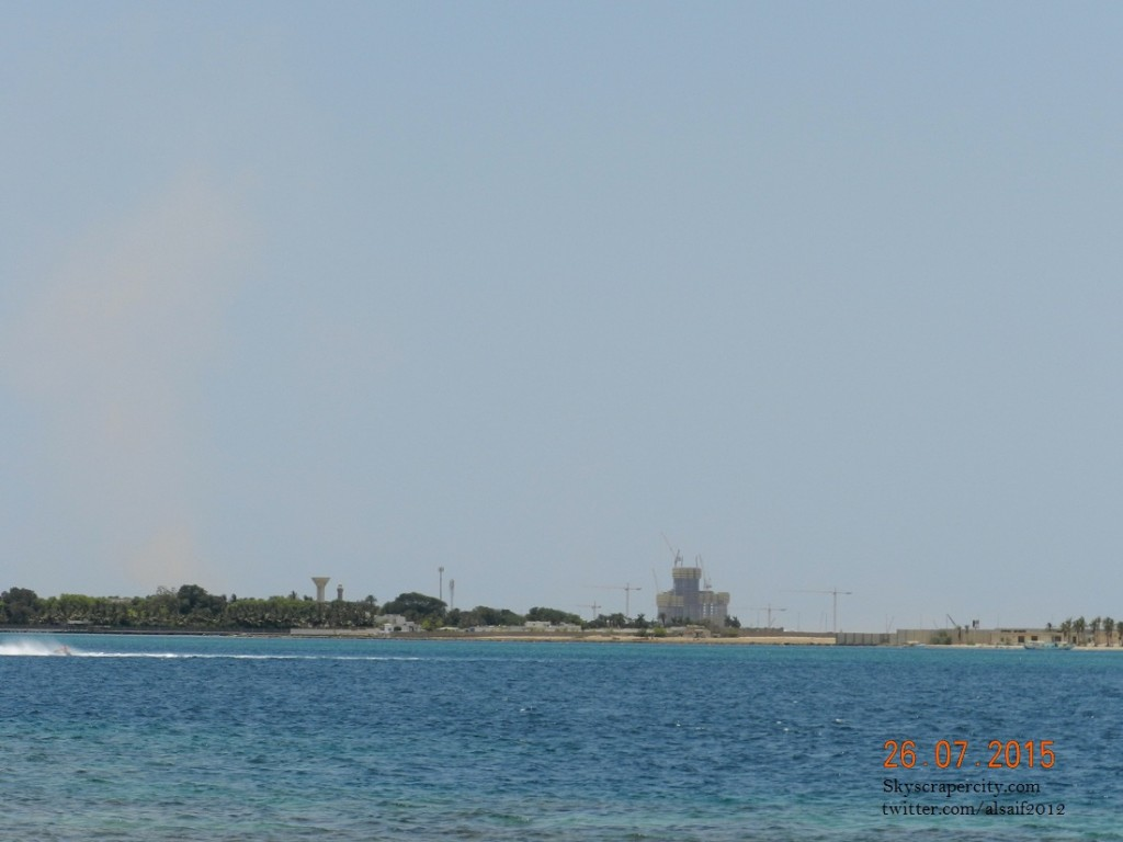 Kingdom tower from offshore